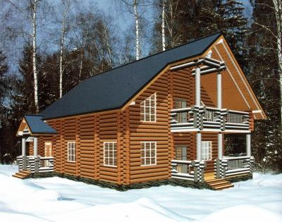 Дом из оцилиндрованного бревна ДБ-59, 276м2
