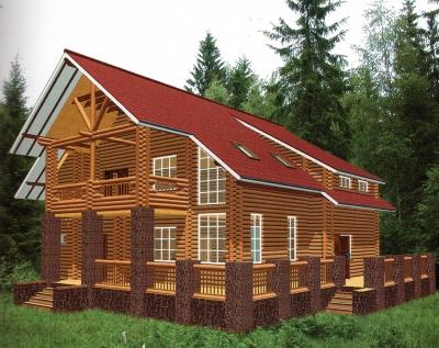 Проект дома из бревна ДБ-60