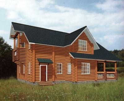 Дом из оцилиндрованного бревна ДБ-61, 304м2