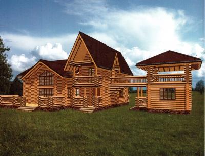 Дом из оцилиндрованного бревна ДБ-63, 316м2