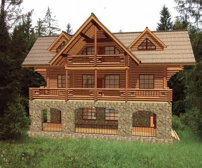 Проект дома из бревна ДБ-65