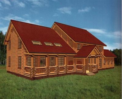 Проект дома из бревна ДБ-71