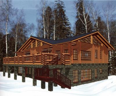 Проект дома из бревна ДБ-72