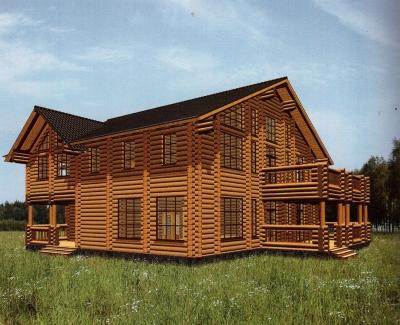 Дом из оцилиндрованного бревна ДБ-73, 540м2