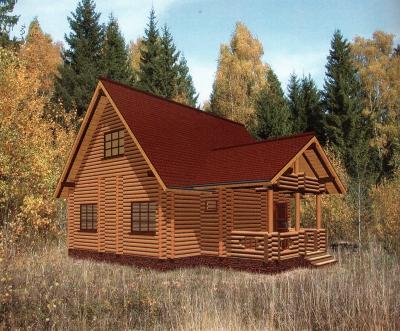 Дом из оцилиндрованного бревна ДБ-92, 99м2