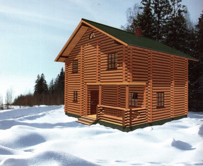 Проект дома из бревна ДБ-93