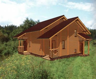 Дом из оцилиндрованного бревна ДБ-94, 108м2