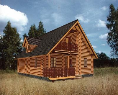 Дом из оцилиндрованного бревна ДБ-98, 122м2