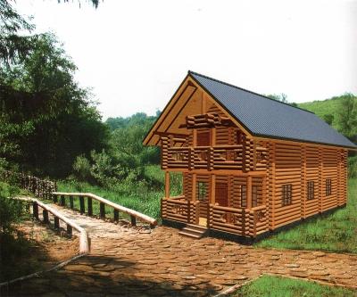 Дом из оцилиндрованного бревна ДБ-99, 124м2