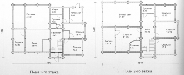 Схема проекта дома из оцилиндрованного бревна ДБ-140