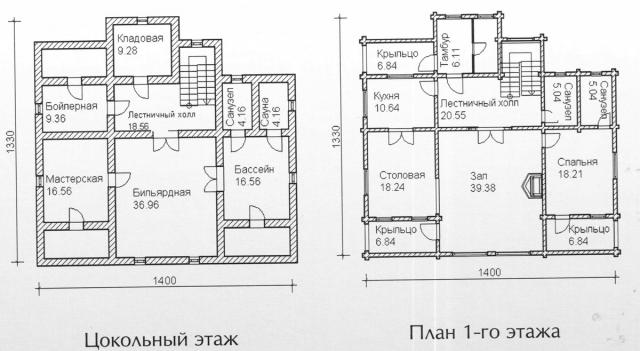 Схема проекта дома из оцилиндрованного бревна ДБ-150